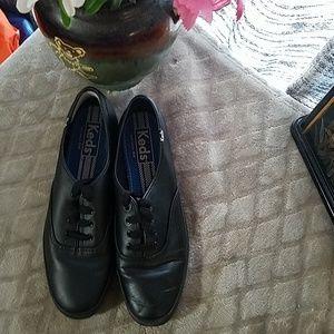 Black Leather Keds